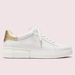 Kate Spade Lift Sneakers White Leather Low Top 9